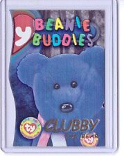 1999 TY BEANIE S3 GOLD! CARD INSERT CLUBBY THE BEAR BUDDIES SIDE #9990