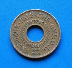 Israel-Palestine-British-Mandate-5-Mils-1944-Coin-XF