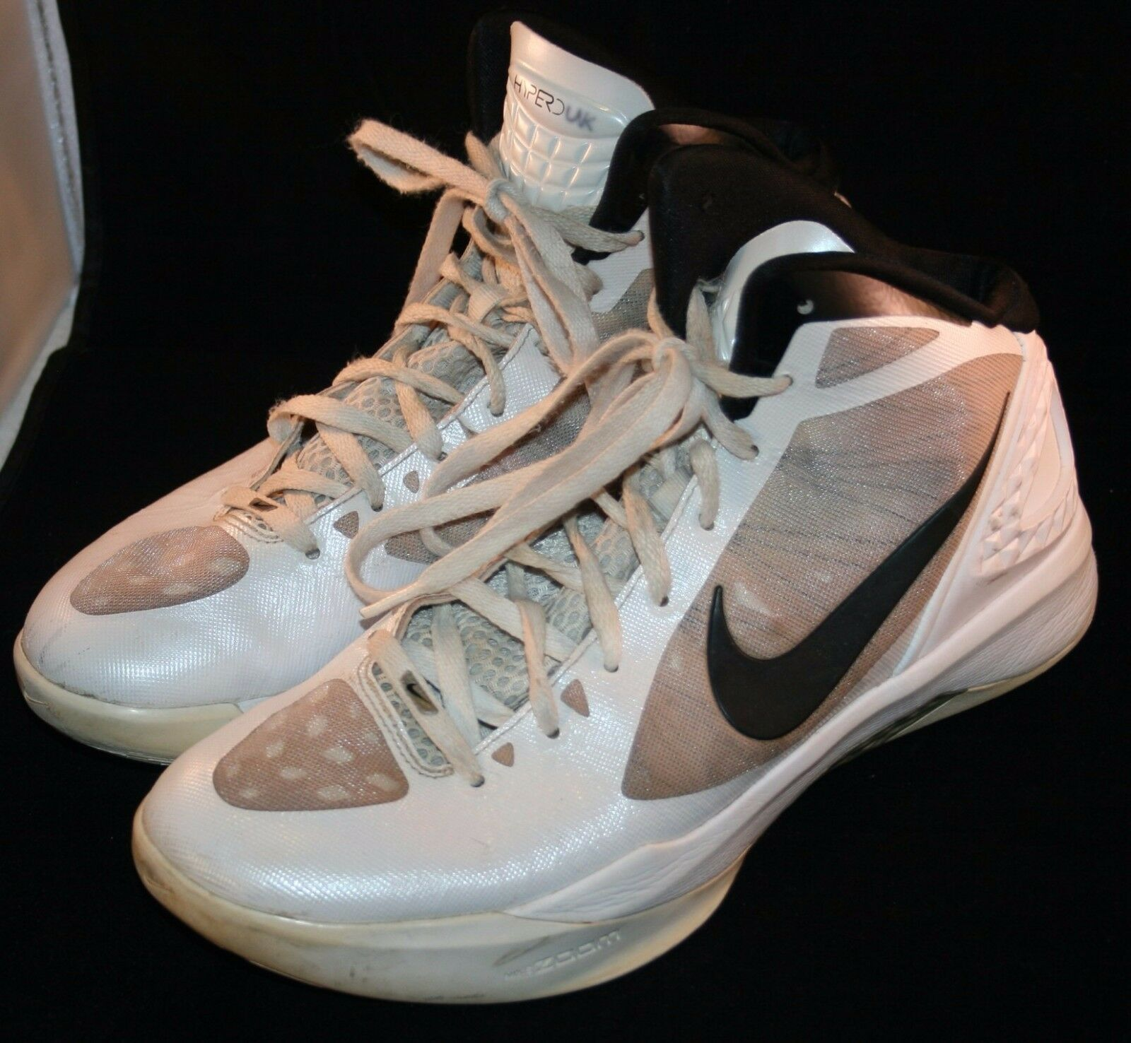 Nike Hyperdunk Flywire Zoom Basketball shoes Sz 9.5 White 9 1 2 Sneakers Mens