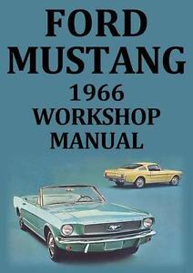 ford mustang 1966 workshop manual ebay rh ebay com 1966 mustang shop manual pdf 1966 mustang service manual pdf