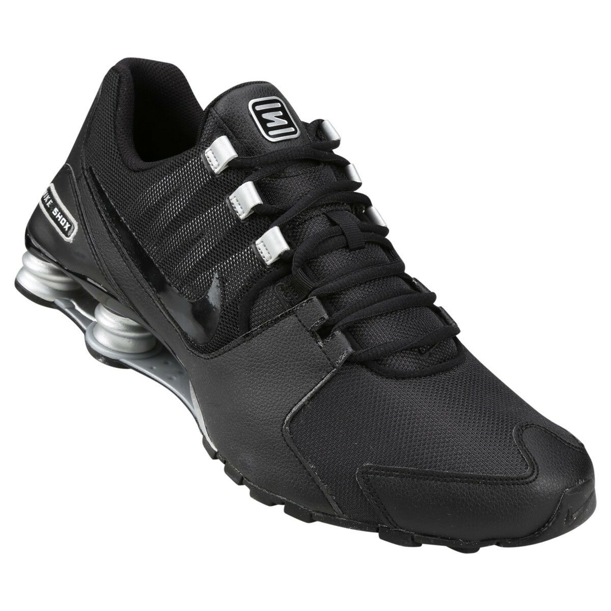 Mens Nike Shox Avenue Premium Sneakers New, Black   Silver 833583-001