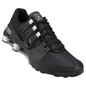 73df378608f Image is loading Mens-Nike-Shox-Avenue-Premium-Sneakers-New-Black-