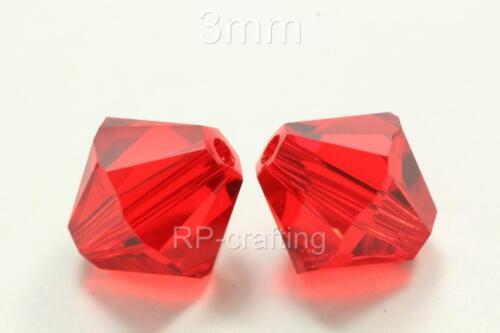 25 Autriche Bobine biconique perles cristal 6 mm pour Swarovski #5301//5328-U Choix Couleurs #AB63