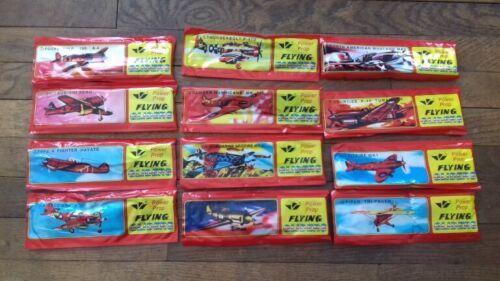 jeu neuf et emballé lot de 12 avions polystyrène à monter
