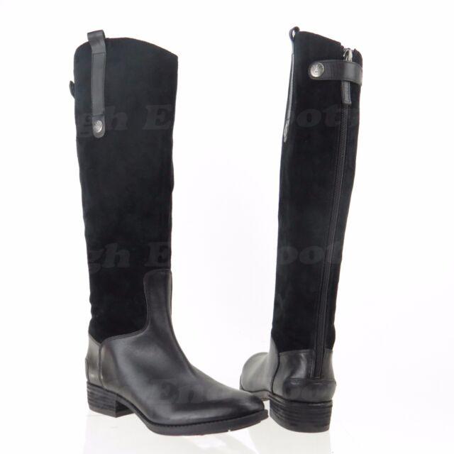 e838fa02715b00 Sam Edelman Pembrooke Women s Black Suede Knee High Riding Boots Sz 6.5 M  NEW