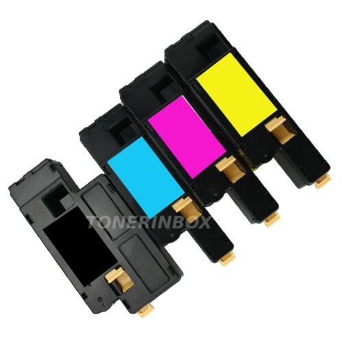 4 Pack B//C//M//Y Toner Cartridge Fits Dell C1660W C1660CNW C1660