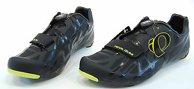 Pearl Izumi Race Road IV Boa Carbon Cycling Shoes,Black/Lime Punch,Size 42 / 8.5