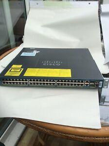 Cisco Catalyst 4948 Ws-c4948-s 48-port Gigabit Ethernet Switch V10 Ref2-afficher Le Titre D'origine