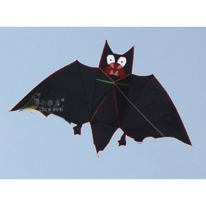 3m NEW Super HUGE BAT KITE outdoor fun toys novelty kite Single line BLACK gift