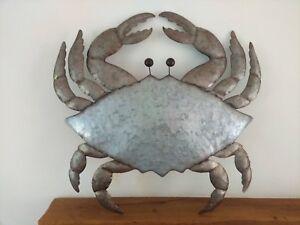 Image Is Loading Fantastic Large 68 5cm Metal Crab Wall Art