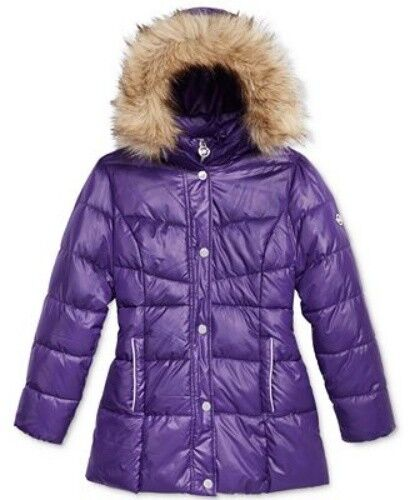 4709ac040cca Michael Kors Stadium Puffer Jacket With Faux-fur Trim Size 3t for sale  online