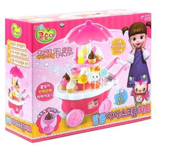 KONGSUNI Sweet Ice Cream Cart PlayTV Cartoon Character For Kids Baby