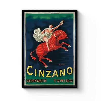 VINTAGE ITALIAN VERMOUTH WINE ADVERTISING A3 POSTER PRINT