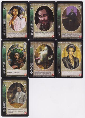 Followers of Set Big Cap Crypt Lot G4 7x Vampires LotN/LoB/KMW/G  V:TES VTES