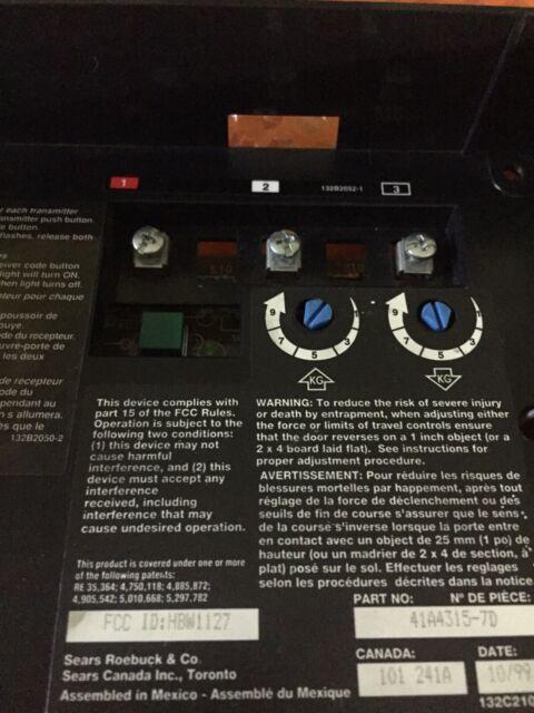 Chamberlain Sears Craftsman Liftmaster Garage Door Logic Board 41a4315 7d For Sale Online Ebay