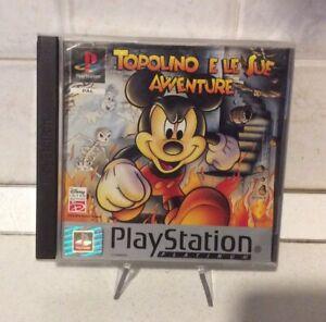Topolino E Le Sue Avventure- Playstation 1 Ps1 Pal-completo