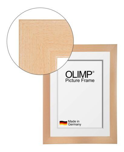 E1 Bilderrahmen Olimp Buche mit entspiegeltem Acrylglas