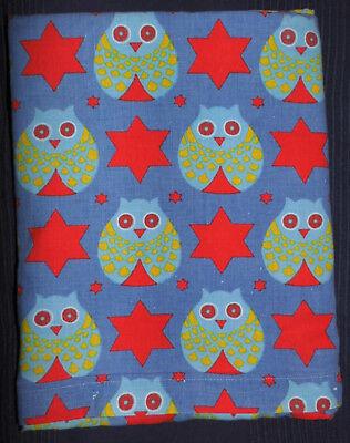 2019 Mode Vintage Eulen Bettwäsche 70er 100x135 Bettbezug 70s Owls Fabric Bedding Rar E!