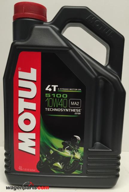 Lubricante Aceite Moto 4 tiempos Semi Syn MOTUL 5100 4T 10W40, 4 litros