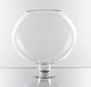 Oversized Large Clear Stem Bowl Glass Vase Centerpiece16 Quot X 16 Quot Open8 5 Quot Vbw0916 Ebay