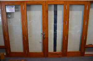 TIMBER-BIFOLD-DOORS-SOLID-CEDAR-PRE-HUNG-STAINED-NEW-2950x2100h-IN-STOCK