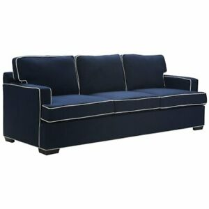 Sensational Details About Tommy Hilfiger Cardiff Sofa American Navy With White Piping Dailytribune Chair Design For Home Dailytribuneorg