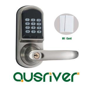 Image is loading M1-Card-Wireless-Smart-Digital-Door-Lock-Electronic-  sc 1 st  eBay & M1 Card Wireless Smart Digital Door Lock Electronic Smart Code Door ...