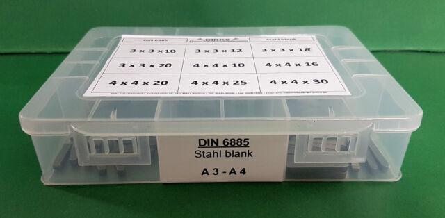 Passfedern Federkeile nach Auswahl Paßfedern DIN 6885 A Stahl blank