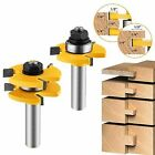 Tongue and Groove Set 2pcs Router Bit Wood Door Flooring 3 Day Ship
