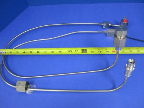 Used Cylinder Lead Pigtail for HP Gas Panel w// CGA 632-642 /& Flow Switch