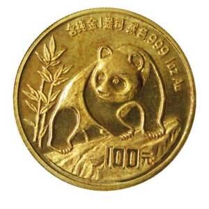 1 oz Gold China Panda Random Year Scruffy