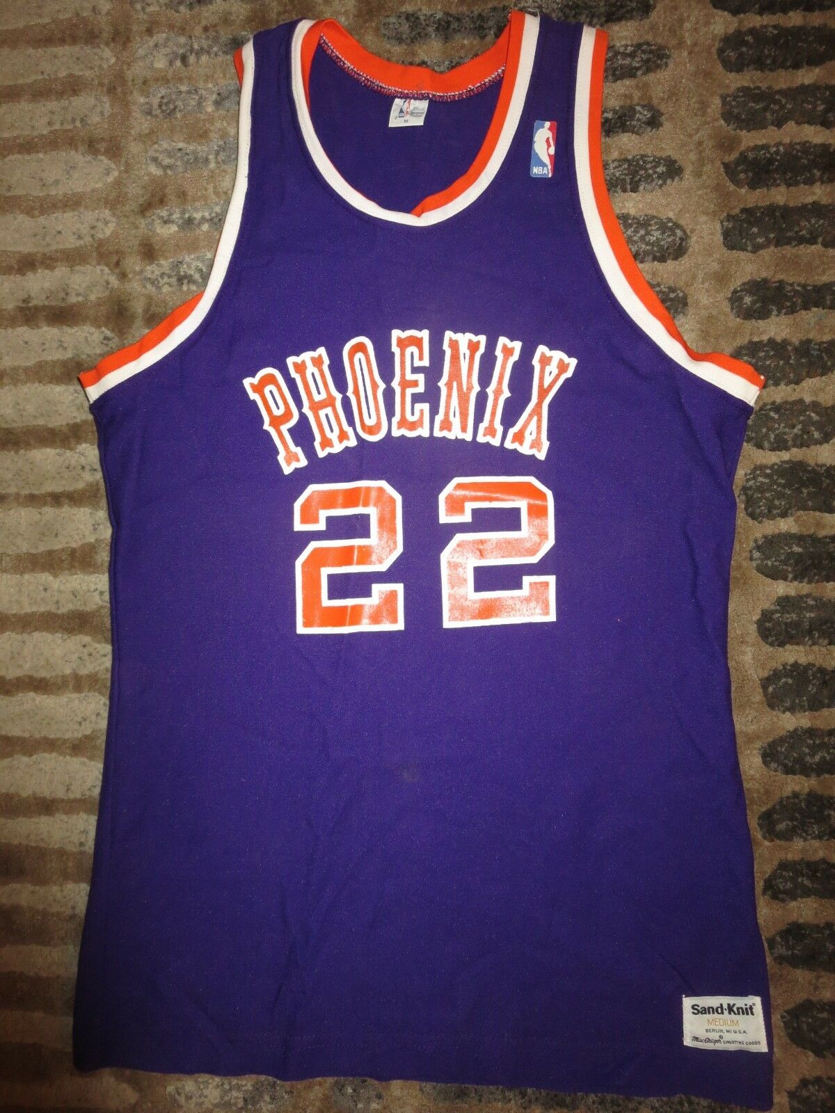 Larry Haltung    22 Phoenix Suns NBA Sand Knit Basketball Spiel Trikot bc9809