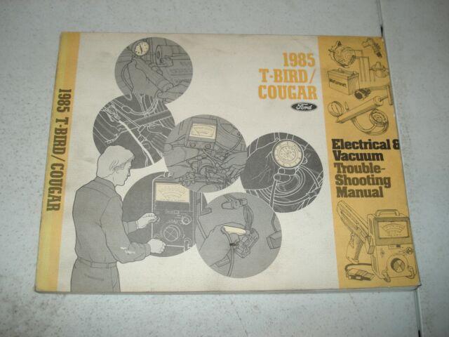 1985 Ford Thunderbird Mercury Cougar Wiring Diagrams