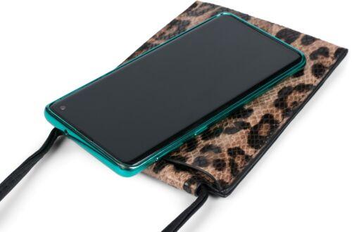 Schultertasche Handy-Tragetasche Handy Umhängetasche mit Leoparden Muster