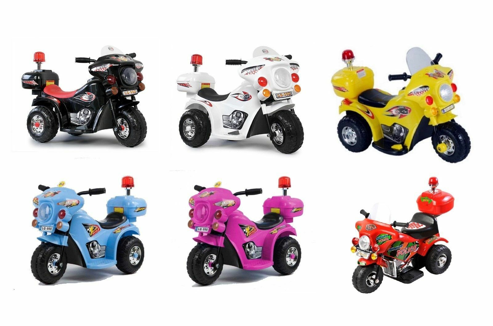 Kindermotorrad Elektromotorrad Polizei Kinder Elektro Motorrad mehrfarbig NEU