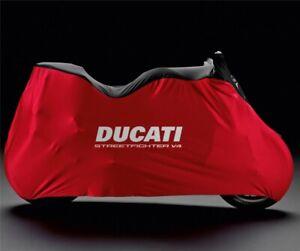 DUCATI-Indoor-Abdeckplane-Pelerine-Bike-Cover-rot-STREETFIGHTER-V4-NEU