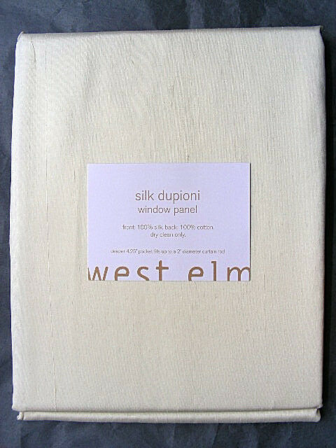 WINDOW PANEL PANEL PANEL   CURTAIN 100% SILK DUPIONI by West Elm 48  x 108  - 96  - 63  4e78c7