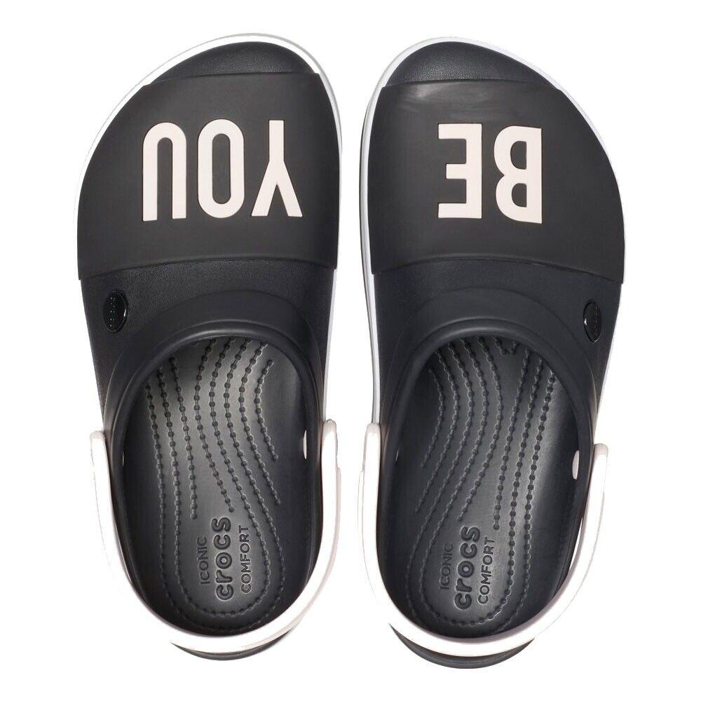 100% Vrai Crocs Sabot Crocband Platform Bold 205699-001 Noir Modèle 205699-001
