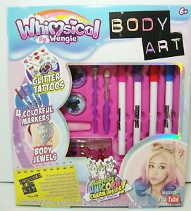 Whimsical By Wengie Body Art Kit Glitter Tattoos Unicorn Charm Jewels 653899035273 Ebay