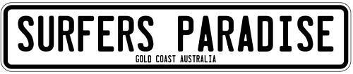 SURFERS PARADISE STICKER car sticker bumper surf 180mm wide