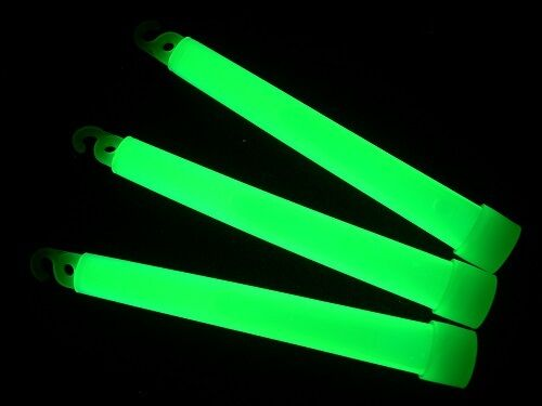 "200 6/"" GREEN Glow Sticks 15mm Bulk Wholesale Pack w// FREE 100 Glow Bracelets"