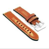 Strapsco St13 Destroyed Thick Vintage Tan Leather Watch Mens Distressed Strap