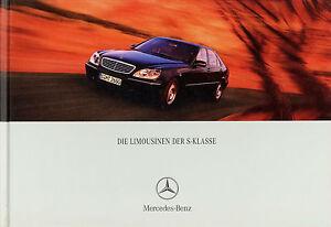 Mercedes-S-Klasse-Prospekt-2001-8-01-Autoprospekt-29-6-01-S-55-AMG-600-500