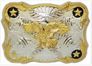 Belt-Buckle-Eagle-Western-Cowboy-SILVER-GOLD-HIGH-QUALITY-GUARANTEE-MEN-WOMEN