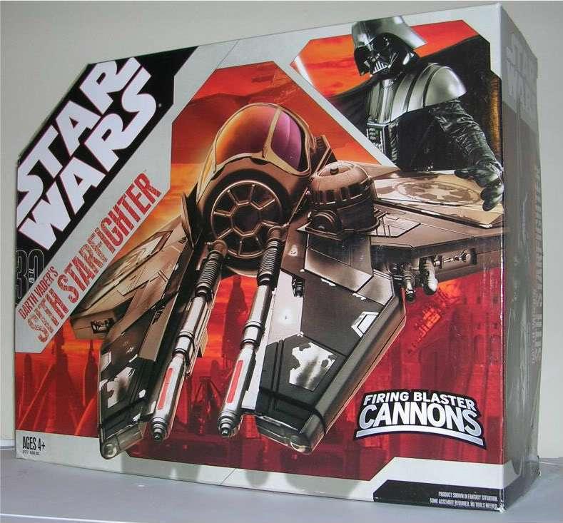 Star  Wars véhicule navire-Dark Vador Sith Starfighter - 30th Anniversaire En parfait état, dans sa boîte  pas cher et de haute qualité