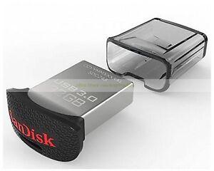 SanDisk USB 32GB 32G Ultra Fit USB3.0 Flash Pen Drive Mini Nano New