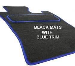 AUDI TT 98-06 Fully Fitted Custom Made Tailored Car Floor Mats Black /& BLUE TRM