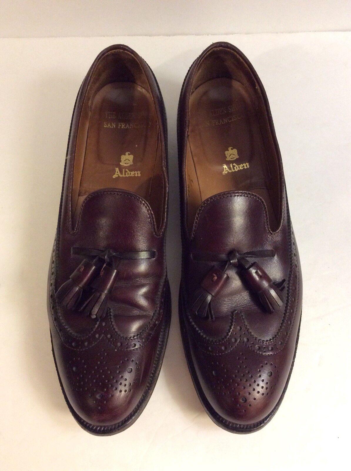 Alden Brown Leather Tassel Loafers Dress shoes Men's Sz 10.5 AAA