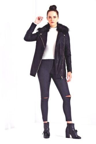 uni de piel la chaqueta Volver a escuela colegio Leather Faux wI4Zx