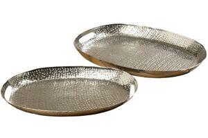 POSTEN-2x-Dekotablett-Selina-silber-Laenge-48-55cm-Dekoration-UVP-Set-29-99-7